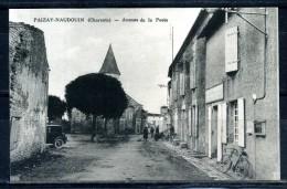 CPA . PAIZAY-NAUDOUIN . Avenue De La Poste , Carte Animée . Voir Recto Verso   (T227) - France