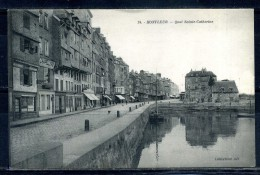 CPA . HONFLEUR . Quai Sainte Catherine . Voir Recto Verso   (T215) - Honfleur