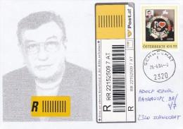 """1311l: Personalisierte Briefmarke """"Ezsöl- Schwechat"""" Rekobrief 25.06.2004 PA 2320 Schwechat - Autriche"""