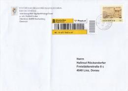 """1311t: Personalisierte Briefmarke """"Stadterhebung Ried Im Innkreis"""" Bedarfsbeleg Per Einschreiben - Autriche"""
