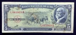 CUBA. 5 pesos 1960. Sign. CHE
