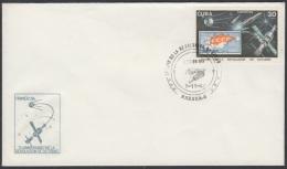 1987-FDC-6 CUBA. FDC. 1987. 70 ANIV REVOLUCION DE OCTUBRE. SPACE. ASTRONAUTICS. POSTAL ROCKET. - FDC