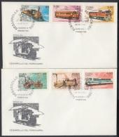 1988-FDC-19 CUBA. FDC. 1988. DESARROLLO DEL FERROCARRIL. RAILWAY. RAILROAD. TRAIN. - FDC