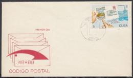 1989-FDC-3 CUBA. FDC. 1989. CODIGO POSTAL CUBANO. - FDC