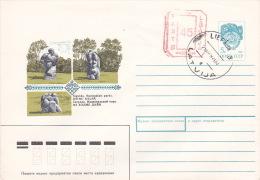 Latvia 1992 Prepaid Envelope 5k FDC - Lettonie