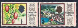 Trinidad & Tobago, Scott # 144-5 MNH Cocoa & Sugar Industries, 1969 - Trinidad & Tobago (1962-...)