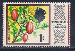 Trinidad & Tobago, Scott # 144 Mint Hinged Cocoa Industry, 1969 - Trinidad & Tobago (1962-...)