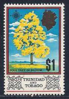 Trinidad & Tobago, Scott # 157 Mint Hinged Poul Tree, 1969 - Trinidad & Tobago (1962-...)