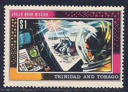 Trinidad & Tobago, Scott # 168 Mint Hinged Apollo Moon Mission, 1969 - Trinidad & Tobago (1962-...)