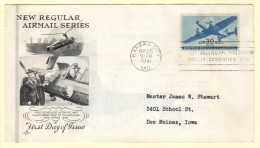 USA SC #C30 FDC  1941 30c Transport Plane (09-25-1941), CV $17.50 - First Day Covers (FDCs)