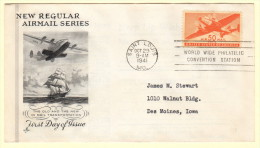 US SC #C31 FDC  1941 50c Transport Plane (10-29-1941), CV $35.00 - First Day Covers (FDCs)
