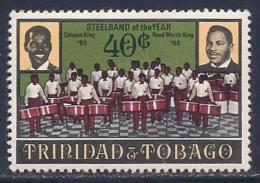 Trinidad & Tobago, Scott # 180 Mint Hinged Steelband, 1970 - Trinidad & Tobago (1962-...)