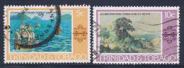 Trinidad & Tobago, Scott # 262-3 Used Paintings, 1976 - Trinidad & Tobago (1962-...)