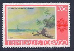 Trinidad & Tobago, Scott # 265 Mint Hinged Painting, 1976 - Trinidad & Tobago (1962-...)