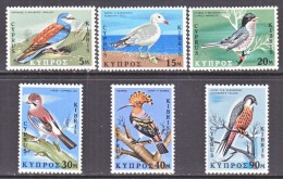 CYPRUS  329-34  *   FAUNA   BIRDS - Unused Stamps