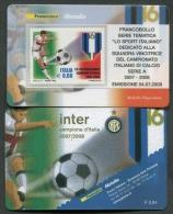 ITALIA TESSERA FILATELICA 2008 - INTER CAMPIONE D´ITALIA SERIE A 2007 - 2008 - 272 - 6. 1946-.. Republik