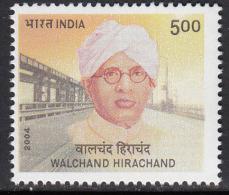 India MNH 2004, Started Ship, Airplane & Car Factory, Walchand Hirachand, Industralist, , Bridge - Nuevos