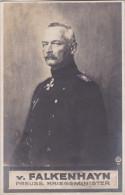 1915 D. Reich MILITARIA, Feldpost, BESSERE Karte KRIEGSMINISTER v. Falkenhayn Esens/Hengsterholz b Ganderkesee. MK