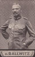 1917 D. Reich MILITARIA, Feldpost, BESSERE N.F.G. Karte Generaloberst v. Gallwitz, gelaufen. MK