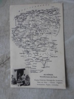 Algérie  Map , Carte Géo Des Territoires Du Sud Alger Constantine Oran Tapis Poteries  Olivier Vigne  Grenadier D127451 - Algérie