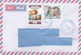 Z3] Enveloppe Cover Burundi Joueur De Football Soccer Player Lionel Messi - Football