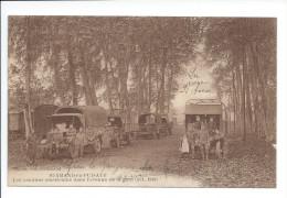 St-AMAND-en-PUISAYE - Les Camions Américains Dans L'avenue De La Gare (Oct. 1918) - Saint-Amand-en-Puisaye