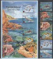 SRI LANKA, 2014, PIGEON ISLAND MARINE NATIONAL PARK, WHALES, SHARKS, CRABS, FISH, BIRDS, CORALS, 6v+ SLT, NICE!! - Walvissen