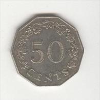 50 Cents Malte / Malta 1972 - Malta