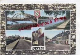 58 - DECIZE - LE PONT DU FAUBOURG D' ALLIER - CANAL DE LA JONCTION -LE GRAND PONT-PLACE REPUBLIQUE--PORTE MARQUIS - Decize