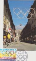 CARTE PREMIER JOUR FRANCE 1992 JEUX OLYMPIQUES D'ALBERTVILLE Et De BARCELONE 1992 - Hiver 1992: Albertville