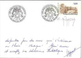 FRANCE - LES BAUX DE PROVENCE 1987 - PREMIER JOUR - SIGNATURE C DURRENS GRAVEUR - Châteaux
