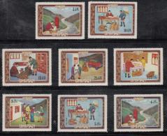BHUTAN,1973, Indipex Philatelic Exhibition, 8v Complete Set Perforated., Philatelic Exhibition,MNH(**) - Expositions Philatéliques