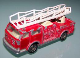 MAJORETTE - Alter Feuerwehrwagen POMPIER (No. 207) - 1:100 - LKW, Busse, Baufahrzeuge