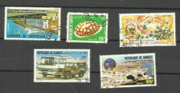 Djibouti  N°491,521,523,554,585  Côte 1.65 Euros - Yibuti (1977-...)