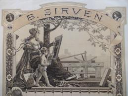 RARE - Magnifique Action B. SIRVEN. Imprimerie. Toulouse - Industrie