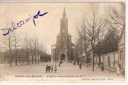CPA - 62 - NOEUX LES MINES - Eglise Sainte Barbe Au N°1 - Noeux Les Mines