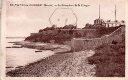 Cpsm  ( Genre Cpa )5 Saint-vaast-la-hougue , Le Semaphore De La Hougue - Saint Vaast La Hougue