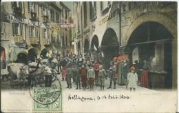 SUISSE - BELLINZONA - La Piazza Nosetto (petite Fente En Haut, Carte Recollée) - UR Uri