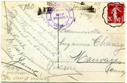 COLMAR Haut Rhin à METZ Moselle CONVOYEUR LIGNE Sur 20 C Semeuse 27.7.1928 Sur Cpa LAC DE FISCHBOEDLE Vosges...  - G - Marcophilie (Lettres)