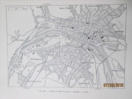 Plan De  La Ville De  ROUEN     1940 - Maps