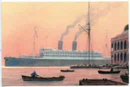 Paquebot Le Paul Lucat à Suez 1912 - Sandy Hock Gouache Illustrateurs - Asso French Lines Au Havre 2005 - Dampfer