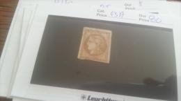 LOT 247634 TIMBRE DE FRANCE OBLITERE N�43A VALEUR 80 EUROS