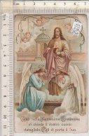 PO0561D# SANTINO COMUNIONE PASQUALE 1911 - PARROCCHIA SAN GIUSTO M. - SUSA Lit.L.Garda - Images Religieuses