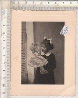 PO0684D# FOTOGRAFIA  BAMBINI - FILLETTE - GIOCATTOLI BAMBOLE - RICORDO Anni '30 - Portraits