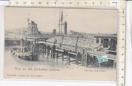PO0873D# GERMANIA - GERMANY - NORDSEEBAD CUXHAVEN - ALTE LIEBE - HAFEN-EIRFAHRT - BARCA  No VG - Cuxhaven
