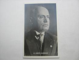 Propagandakarte  , B. Mussolini   ,seltene   Karte Mit Sonderstempel - Deutschland