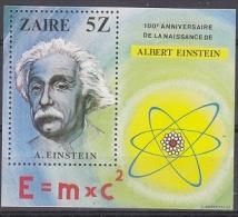 Zaire 1980 Albert Einsten M/s ** Mnh (19921) - Zaïre