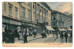 Romania ( 9956 ) - Banat, ARAD, Jewish Shops - Old Postcards - Used - 1903 - Romania