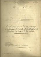 MILITARIA MARINE NATIONALE CIRCULAIRE 1902 CONSTRUCTIONS NAVALES NAVIRE BATEAUX GUERRE - Barche