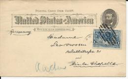 USA - 1894 - CARTE ENTIER POSTAL De NY Pour AIX LA CHAPELLE (GERMANY)